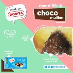 Donita Donat Filling. Donat Kentang Beku isi Chocomaltine