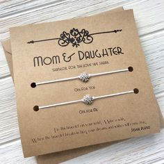 Christmas Gifts For Mom Gift From Daughter Mother Daughter Bracelet Mom Mother Gift From Daughter Mother Daughter Gift - brottbacken Birthday Presents For Her, Birthday Gifts For Her, Diy Birthday, Birthday Nails, Valentine Gifts For Mom, Mother Daughter Bracelets, College Gifts, Wish Bracelets, Couple Bracelets