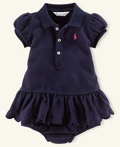 Ralph Lauren Baby Dress, Baby Girls Mesh Polo Dress - Kids Newborn Shop - Macy's