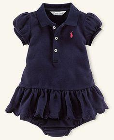 Ralph Lauren Baby Dress, Baby Girls Mesh Polo Dress - Kids Newborn Shop - Macy's