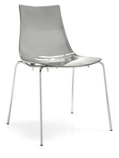 Sedia in metallo con scocca trasparente 298   € 49,90
