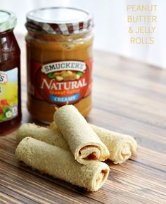 Peanut Butter Jelly Rolls - Perfect for traveling with kids! #NaturalDifference #spon