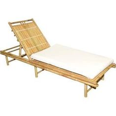 Bamboo Sunbed With Cushion, Outdoor Furniture, by Bamboo54