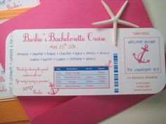 Set Sail before the Veil! Send out nautical but nice invites to bachelorette party attendees, have cute bachelorette party shirts made, and get ready for fun, sun and girl time before the wedding with a bachelorette cruise.
