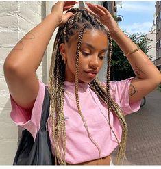 Box Braids Hairstyles For Black Women, Black Girl Braids, Girls Braids, Pretty Hairstyles, Curly Hair Styles, Natural Hair Styles, Box Braids Styling, Baddie Hairstyles, Twist Braids