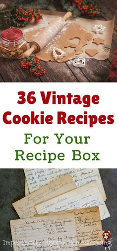 36 Vintage Cookie Recipes for Your Recipe Box. For Christmas or any holiday you … 36 Vintage Cookie Recipes for Your Recipe Box. For Christmas or any holiday you want to make special with these old fashioned recipes. Christmas Cooking, Christmas Desserts, Christmas Treats, Christmas Christmas, Christmas Cookie Boxes, Vintage Christmas, Christmas Fashion, Primitive Christmas, Country Christmas