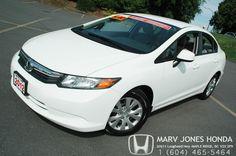 One of our newest arrivals at Marv Jones Honda. 2012 Honda Civic!
