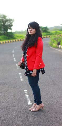 outfit , red blazer , fashion , style , fall