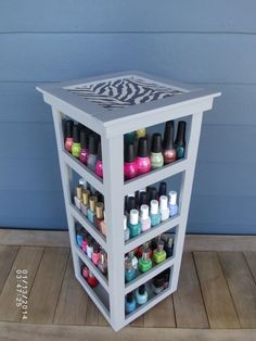 Fabric Top Carousel 4 Tier Tower Nail Polish by NLpalletcreatives