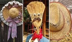 Decoração Festa Junina - Vassoura e chapéu -