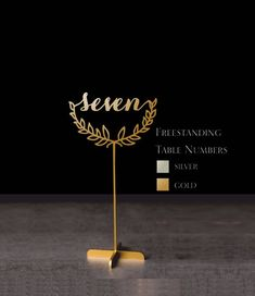 """Table Numbers Sale Freestanding Gold Table numbers Weding Table Numbers Numbers-Please Enter your phone number in the """"NOTE to the seller"""" Gold Table Numbers, Wedding Headdress, Flower Girl Gifts, Place Names, Wedding Places, Lettering, Note, Wedding Accessories, Special Day"""