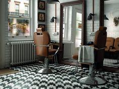 Bodenfliese Equipe Caprice Deco Tweed B&W cm Tweed, Retro, Barbershop Design, Block B, Fireplace Surrounds, Tile Patterns, Kitchen Flooring, Interiores Design, Wall Tiles
