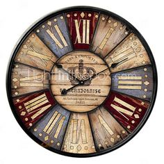 Euro Country Style Wall Clock Vintage Featured