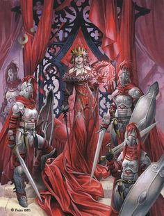 Wayne Reynolds Artworks Cover artwork to Pathfinder RPG Curse of the Crimson Throne - Collected (Hardcover) Edition. Sized - x / x Acrylic on board. High Fantasy, Fantasy Women, Fantasy Rpg, Medieval Fantasy, Fantasy Artwork, Fantasy Images, Wayne Reynolds, Pathfinder Character, Pathfinder Rpg
