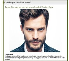 Er, yes @thesundaytimes, that certainly is a story I missed: Fifty Shades of Dorian Gray?