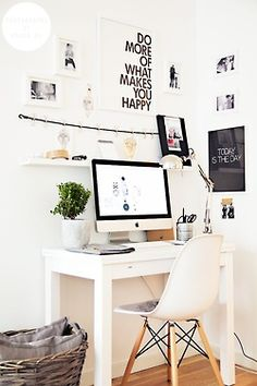 Computer desk, but no space to write. Nice inspiration though