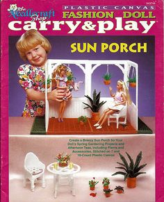Fashion Doll Carry and Play Sun Porch Plastic canvas Pattern Book The Needlecraft Shop 943744. $10.00, via Etsy.