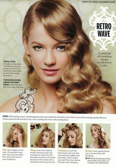 Love these gorgeous waves!!! But I want my bangs to have some lift and a swoop to side