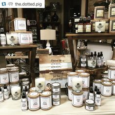 Check out our friends @the.dotted.pig  We are restocked on your favorite candles from Southern Firefly. We now have small tins and room sprays in your favorite scents. #candlelovers  #smellsgood #downtownrogers  #godowntownrogers #shoplocal