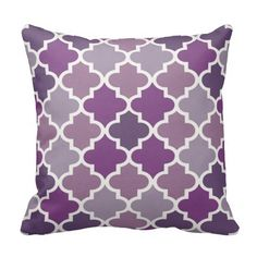 Emerald Green and White Decorative Cushion Covers Throw Pillow Case Moroccan Quatrefoil Pattern Print Square Two Sides Inch Purple Throw Pillows, Throw Pillow Cases, Decorative Throw Pillows, Cushion Covers, Pillow Covers, Quatrefoil Pattern, Tile Patterns, Designer Throw Pillows, Custom Pillows