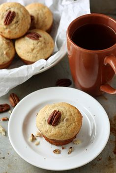 Maple Yogurt Muffins with Pecans by Completely Delicious, via Flickr