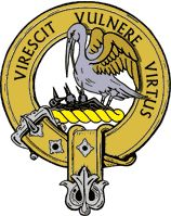 """Clan Crest Stewart - courtesy of www.scotclans.com """"Courage grows strong at the wound"""""""