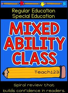 Mixed Ability Class: If you asked a teacher to name the top five stresses of his or her job, not able to meet the needs of all of the students is sure to make the list. No matter how much time and effort is spent making the class lists, there is never a perfectly balanced class. Click to read an idea to try.