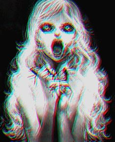 Let's spread Horror to all over the world with us to get an anime stuff you want free. Dark Anime, Arte Horror, Horror Art, Dark Fantasy, Fantasy Art, Paranormal Pictures, Dark Drawings, Girls Anime, Creepy Art