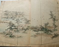 "Hand Painted Kimono Textile Design Book.           It contains 43 kimono bottom designs           ( 43 pages ). Unknown artist.           Dated Meiji 36 ( 1903 ).           23cm x 31cm ( 9"" x 12.3"" )           230g"
