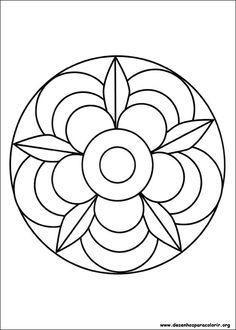 Simple Mandala Flower Coloring Pages. 30 Simple Mandala Flower Coloring Pages. Easy Flower Mandala Coloring Pages at Getdrawings Mandala Tigre, Mandala Art, Mandalas Painting, Mandalas Drawing, Mandala Coloring Pages, Mandala Pattern, Coloring Book Pages, Easy Mandala Drawing, Stained Glass Patterns