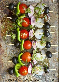 Mediterranean Skewers recipe on instagram @design_yourown_life