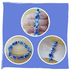 💙 NWOT Blue Shell Shaped Bracelet 💙 Brand New Never Worn Blue Shell Shaped Bracelet With Silver Toned Beads. This Is So Pretty Great For Spring And Summer Very Comfortable On The Wrist With Elastic Throughout. The Matching Earrings & Pendant Are In Other Listings 🚫 PAYPAL 🚫 TRADES 🚫 LOWBALL OFFERS 💙 Macy's Jewelry Bracelets