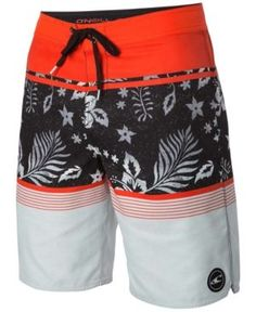 830622e17c O'Neill Men's Lombok Palm-Print Board Shorts - White 42 Lombok, Palm
