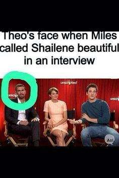 In this interview is was sooo like they were fighting over the attention of Shailene