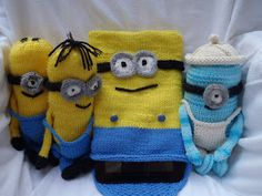 Stana's Critters Etc.: Knitting Pattern for Minions Tablet or I-pad cover