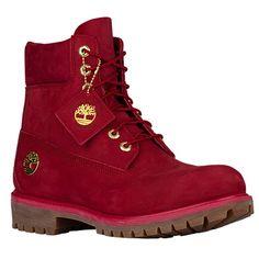 Timberland 6″ Premium Waterproof Boots – Men's – Red / Brown