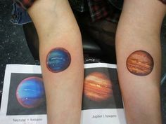 tattoo, planet, and neptune image