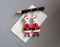 Boucles d'oreilles Père Noël boucles d'oreilles thème
