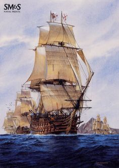 The next is an English Ironside. Bateau Pirate, Old Sailing Ships, Hms Victory, Ship Of The Line, Ship Paintings, Man Of War, Wooden Ship, Ship Art, Model Ships