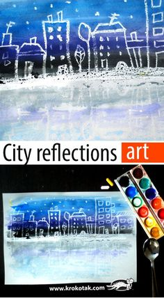 City reflections art