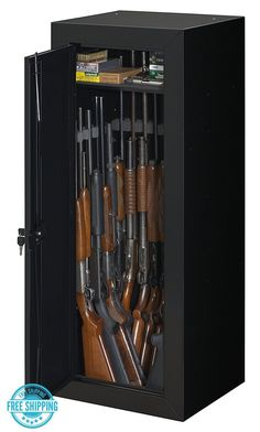 Stack-On 22 Gun Steel Security Cabinet Safe Storage Lock Rifle + Door Organizer | eBay