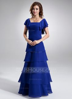 Mother of the Bride Dresses - $148.99 - A-Line/Princess Square Neckline Floor-Length Chiffon Mother of the Bride Dress With Ruffle Beading (008016897) http://jjshouse.com/A-Line-Princess-Square-Neckline-Floor-Length-Chiffon-Mother-Of-The-Bride-Dress-With-Ruffle-Beading-008016897-g16897