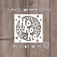 Christmas card templates for laser cutting. Stencil for DIY. Christmas Card Template, Merry Christmas Card, Paper Cards, Diy Paper, Silhouette Cameo Christmas, Diy Crafts For Boyfriend, Christmas Stencils, Card Templates, Paper Cutting