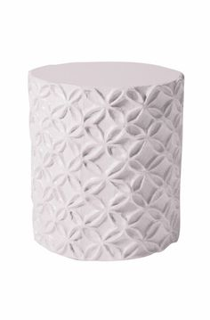 Flower accent stool.