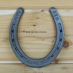6th anniversary stamped horseshoe 6th anniversary gift for her 2010 anniversary iron anniversary gift personalized horseshoe gift