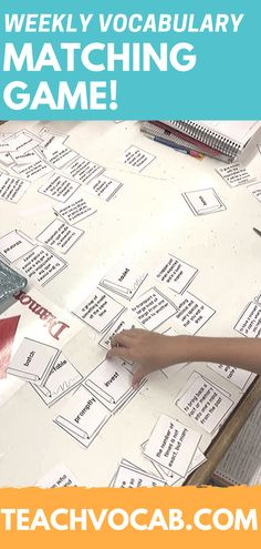 """My 5th graders love cutting and gluing their vocab flashcards - we have them lay them out on the table, match definitions and then glue them together. It's a little competition between the tables. They love it!""  -Philip Out of This World Literacy Member"