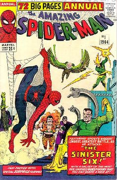 Amazing Spider-Man Annual Cover: Spider-Man Marvel Comics Poster - 30 x 46 cm Marvel Comics Superheroes, Marvel Comic Books, Marvel Dc Comics, Comic Books Art, Spiderman Marvel, Superman, Batman, Silver Age Comics, Amazing Spiderman