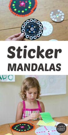 Easy Sticker Mandala Art for Kids
