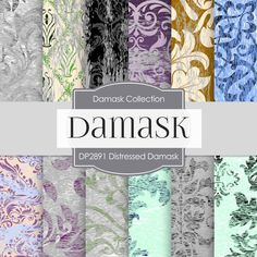 Distressed Damask Digital Paper DP2891