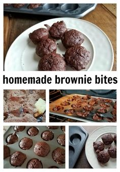 Make your own homemade brownie bites for your family. Easy recipe to make and just a little sweet. Perfect for parties and lunches to snack on. - justmeregina.com
